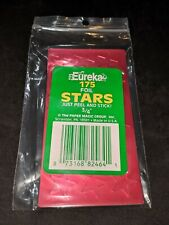 "3/4 inch Foil Stars by Eureka - 3/4"" RED stickers - NEW pack of 175!"