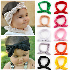 10 PCS Kids Girls Baby Headband Toddler Rabbit Bowknot Hairband Hair Accessories