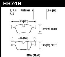 Disc Brake Pad Set-HPS 5.0 Rear Hawk Perf HB749B.648