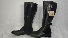 "Born ""Attila"" Black Leather Buckled Tall Riding Boot Women Size 5 M"