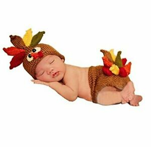 Newborn Monthly Baby Photo Props Outfits Crochet Knitted Costume Set Turkey
