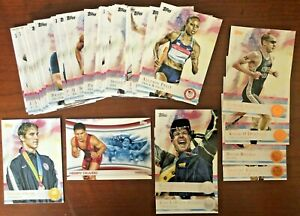2012 Topps Olympics Base, Bronze, Silver, Gold Cards - YOU PICK - Free Ship
