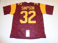 OJ SIMPSON autographed signed USC Trojans maroon jersey JSA Witness