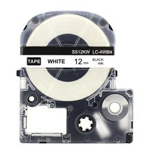1PK Compatible Epson LC-4WBN(SS12KW) Label Tape Black on White LW400 LW300 LW700