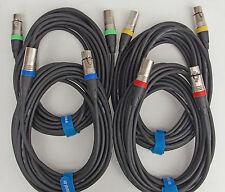 10m 7,5m Mikrofonkabel XLR DMX-Kabel Set mit 2x 10m + 2x 7,5m OFC mit Kabelklett