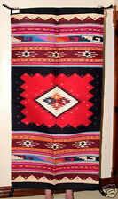 """Throw Rug / TapestrySouthwestern Thick Hand Woven Wool 32""""x 64""""  New 397"""