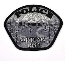 Orting Police Washington Uniform Aufnäher USA Polizei Emblem Patch Bügelflicken