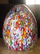 Vintage Millefiori Murano Italy Chandelier Lamp Shade Pendant Art Glass #3