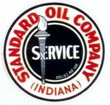 Vintage STANDARD OIL CO Indiana Vinyl Decal Sticker 4130