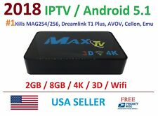 2018 MAXTV PVR IPTV Set-Top-Box 2GB/8GB Quad Core 4K Kills MAG254/256, DREAMLINK