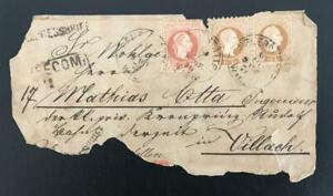 AUSTRIA. 1879. GOOD MULT.FRANK. REG. CIRCULATED COVER FRONT. LOOK!