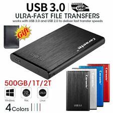 """500GB/1TB/2TB External Hard Drive Disk 2.5"""" USB 3.0 SATA Box Portable Storage"""