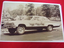 1966 CHEVROLET BELAIR 1/4 RACE CAR  ON TRACK IN 60'S 11 X 17  PHOTO  PICTURE
