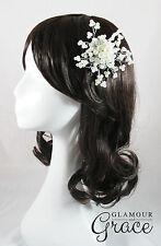 Bethany bridal wedding pearl hair comb accessory headpiece tiara fascinator