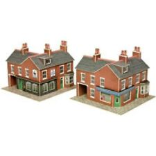 Metcalfe PN116 Corner Shop Buildings Red Brick Die Cut Card Kit N Gauge 1st Post
