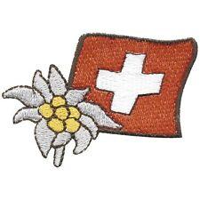 Aufnaeher aufbuegeln Patches Applikation Wappen Flagge rund 9,5 cm Schweiz