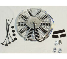 "16"" Electric Radiator Chrome Cooling Fan Straight Blade 2500CFM"