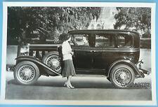 "12 By 18"" Black & White Picture 1932 Chevrolet 4 Door 6 Window Sedan"