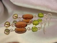 Very Cute Vintage Glass Bead Dangle Earrings  1775s