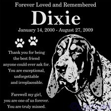 Personalized Bluetick Coonhound Hound Pet Memorial 12x12 Headstone Grave Marker