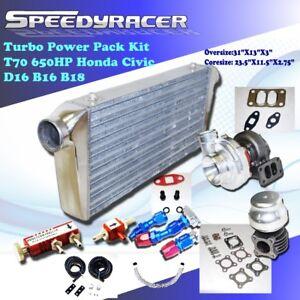 650hp T70 Turbo Upgrade Kit for Honda Civic D16 B16 B18