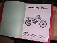 89 HONDA XL100  XL100R  XL 100 Dealer Assembly Set Up Instructions Manual