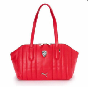 PUMA PMMO1035RED FERRARI LS HANDBAG Red Polyurethane Hand-Bag