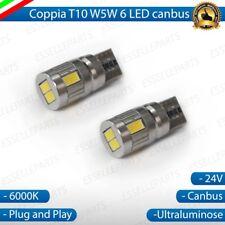 2x LAMPADA LUCI POSIZIONE T10 LED 24V CANBUS CON RESISTENZE IVECO NO ERRORE