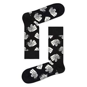HAPPY SOCKS Socken 'Mountain Lion Sock' - schwarz/weiß - 41-46 - NEU