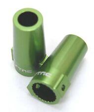 Strc Cnc Mach Aluminum Rear Lock Outs Green Axial Wraith (2) Sta80071G