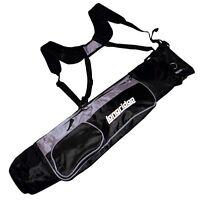 "Longridge 5"" Dual Strap Lightweight Pencil Golf Bag Black / Silver NEW"