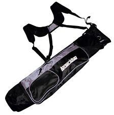"Longridge 5 ""Dual Strap leggero MATITA Golf Bag Nero / Argento NUOVO"