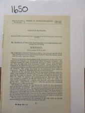 Govt Report 1861 Martin J. Hawks Sergeant Co. A, 33rd Ohio Volunteer   #1650