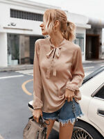 Lady Long-sleeved Casual T-shirt Blouse Women T-shirt Blouse Shirt Plus Size