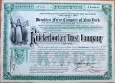 BROOKLYN FERRY Co. - Knickerbocker Trust Company 1906 Gold Bond - New York, NY