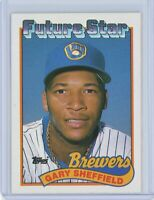 1989 Topps #343 GARY SHEFFIELD Rookie RC (Brewers)