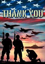 "Custom Decor House Flag ""Thank You Troops"" 1445Fl 28x40"" New Free Shipping"