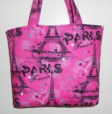 Handmade Paris Forever Eiffel Tower Tote Bag Purse