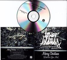 LOWER THAN ATLANTIS Merry Christmas (Wherever You Are) 2012 UK 1-track promo CD