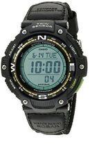 Casio Mens Quartz Twin Sensor Digital Compass Black Nylon 48mm Watch SGW100B-3A2