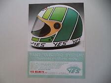 advertising Pubblicità 1982 CASCO HELMET YES