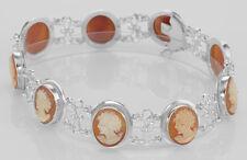 Italian Handcarved Cameo Bracelet - Roman Style - Sterling Silve... Lot 20161266