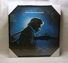 "JOHNNY CASH Framed Album Cover / Jacket  ""At San Quentin"" (1969) 12x12 Country"