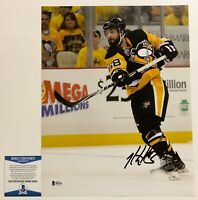 NHL Pittsburgh Penguins Kris Letang Autographed 11x14 Photo Signed Beckett COA