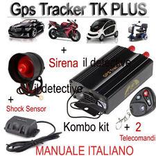 GPS TRACKER SPIA SPY ANTIFURTO LOCALIZZATORE SATELLITARE TK103 TK104 PLUS