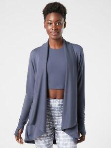 ATHLETA Pranayama Wrap PLUS 3X | Medieval Violet Sweater #777944 NEW