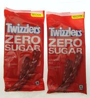 Twizzlers ~ Zero Sugar ~ Strawberry Twists Candy Licorice 5oz bag ~ Lot of 2