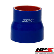 "HPS 2-5/8"" > 3"" ID x 3"" Long 4-ply Reinforced Silicone Reducer Coupler Hose Blue"