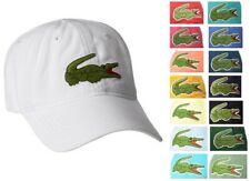 New Lacoste Men's Cotton Gabardine Hat Baseball Cap with Large Crocodile Croc