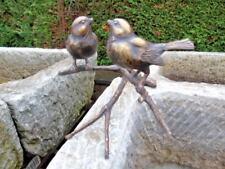 oiseau sur une branche 2 , statue animalière en bronze , oiseaux en bronze .